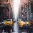 Rainy days in New York - The Yellow Taxicabs by Serge Averbukh