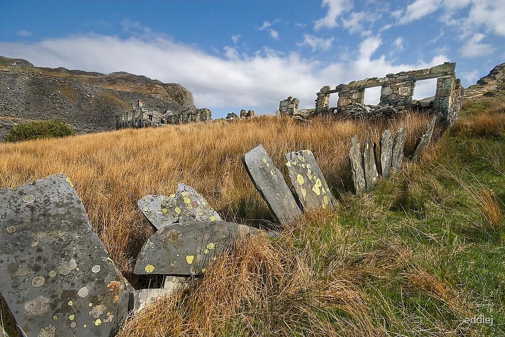 Cwmorthin Ruins by eddiej