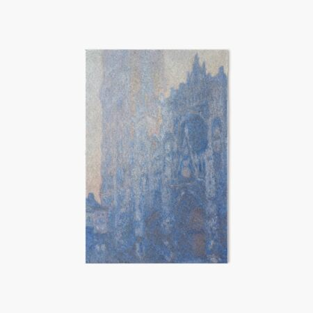 Rouen Cathedral Facade and Tour d'Albane Morning Effect by Claude Monet Art Board Print