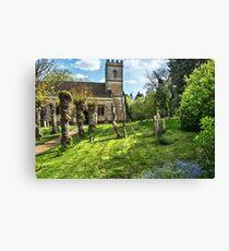 Shipton on Cherwell Church Canvas Print