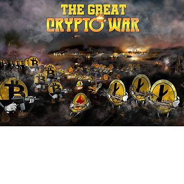 Crypto Coin War Battle Bitcoin Ethereum LiteCoin Ripple Monero by hip-hop-art