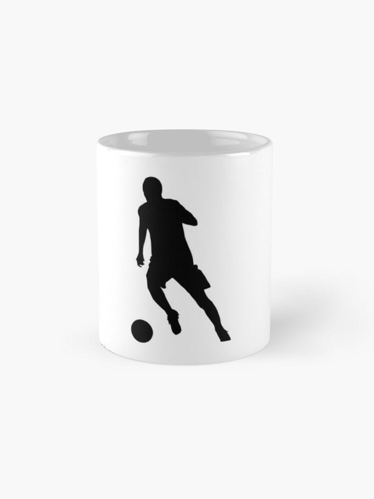 Alternative Ansicht von Fußballspieler Dribbeln Fußball Sport Mannschaft Team WM Tassen