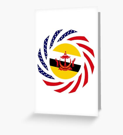 Bruneian American Multinational Patriot Flag Series Greeting Card
