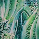 Teal & Green Abstract by Dallas Manicom