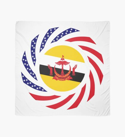 Bruneian American Multinational Patriot Flag Series Scarf