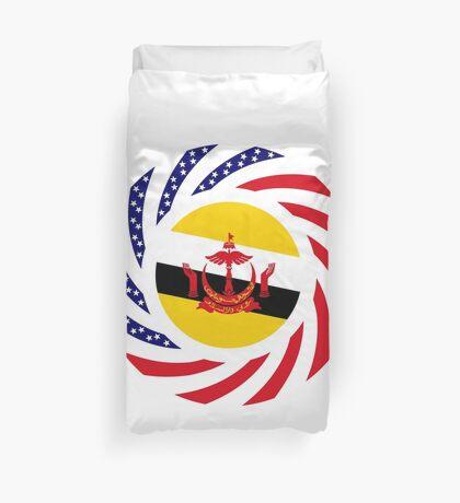 Bruneian American Multinational Patriot Flag Series Duvet Cover
