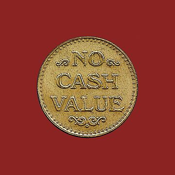 "Ski Ball Token - ""No Cash Value"" by ShoeboxMemories"