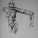 Cloth, charcoal pencil by Anthropolog