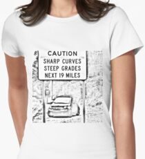 Fiat 500T Women's Fitted T-Shirt
