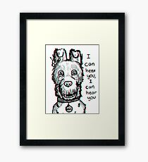 Spots Isle of Dogs Framed Print