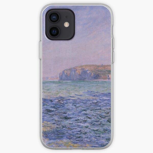 Ombres sur la mer Les falaises de Pourville par Claude Monet Coque souple iPhone