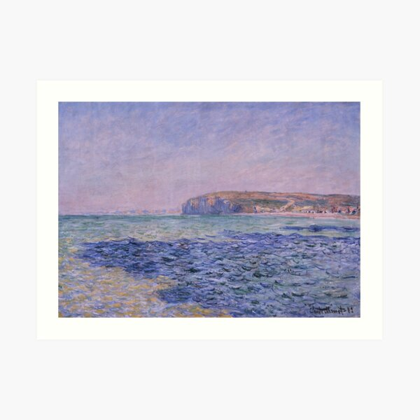 Shadows on the Sea The Cliffs at Pourville by Claude Monet Art Print