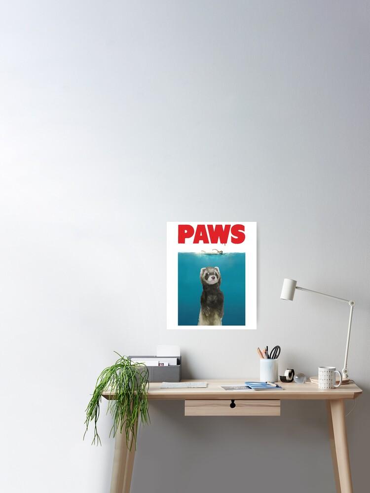 Ferret Animal Paw Prints Living Room Dining Bedroom Car Decal Wall Art Sticker
