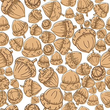 Acorns offset white - design by Jezli Pacheco by BummerGifts
