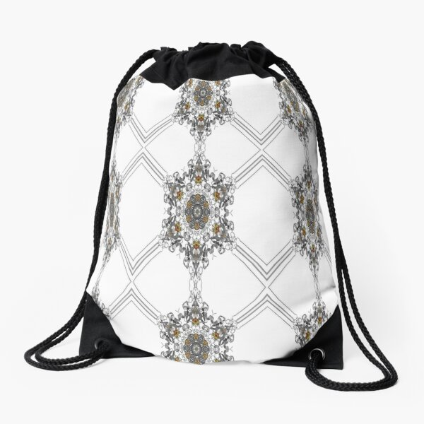 pattern, design, tracery, weave, decoration, motif, marking, ornament, ornamentation, #pattern, #design, #tracery, #weave, #decoration, #motif, #marking, #ornament, #ornamentation Drawstring Bag