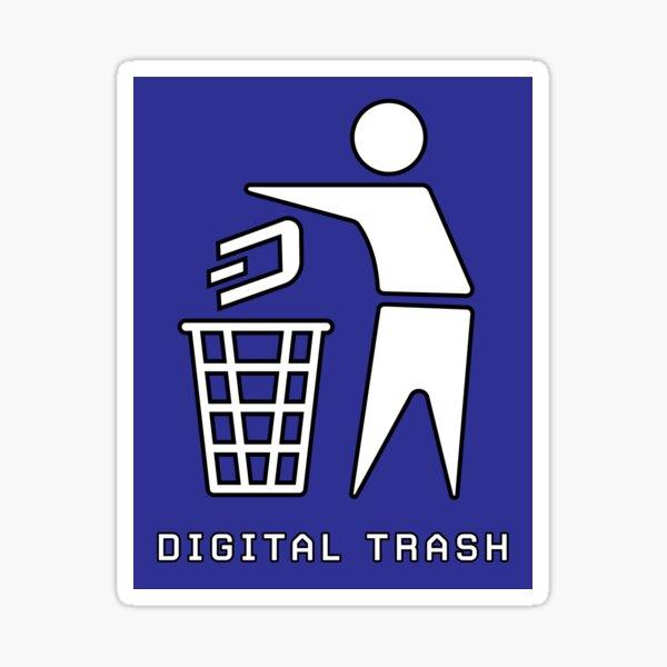 Dash is Digital Trash Sticker