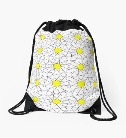 Islamic Geometric pattern  Drawstring Bag