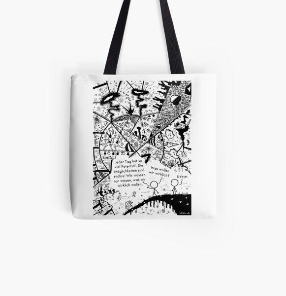 Potential - islieb-Zeichnung Allover-Print Tote Bag
