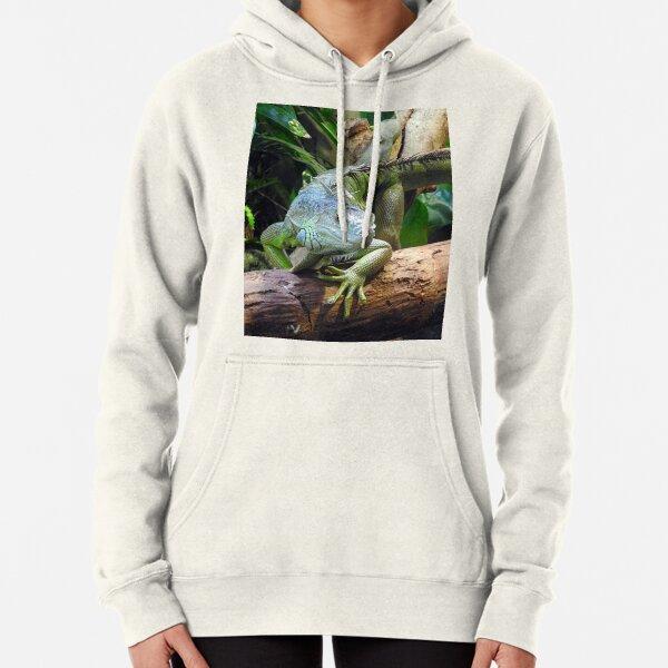 Green Iguana Pullover Hoodie