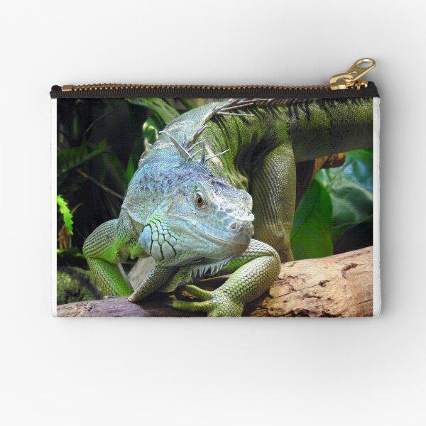 Green Iguana Zipper Pouch
