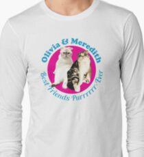 Olivia & Meredith Best Friends Purrrever Long Sleeve T-Shirt