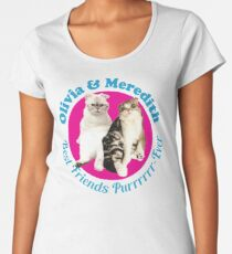 Olivia & Meredith Best Friends Purrrever Women's Premium T-Shirt