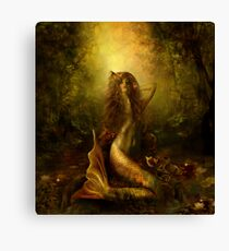 Mermaid of the lake Canvas Print
