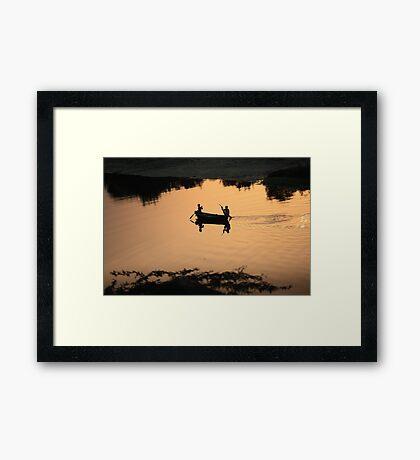 Row, row, row your boat... Framed Print