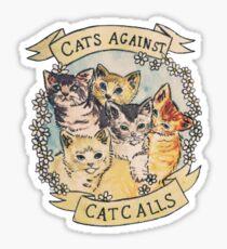 Pegatina Etiqueta engomada de los gatos contra las llamadas