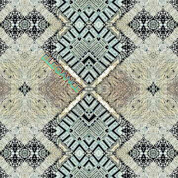 Iron Elegance geometric pattern  by Linandara