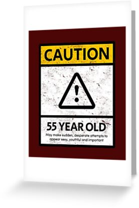 CAUTION 55 Year Old 55th Humorous Birthday T Shirt 1963 Gift And More By MemWear