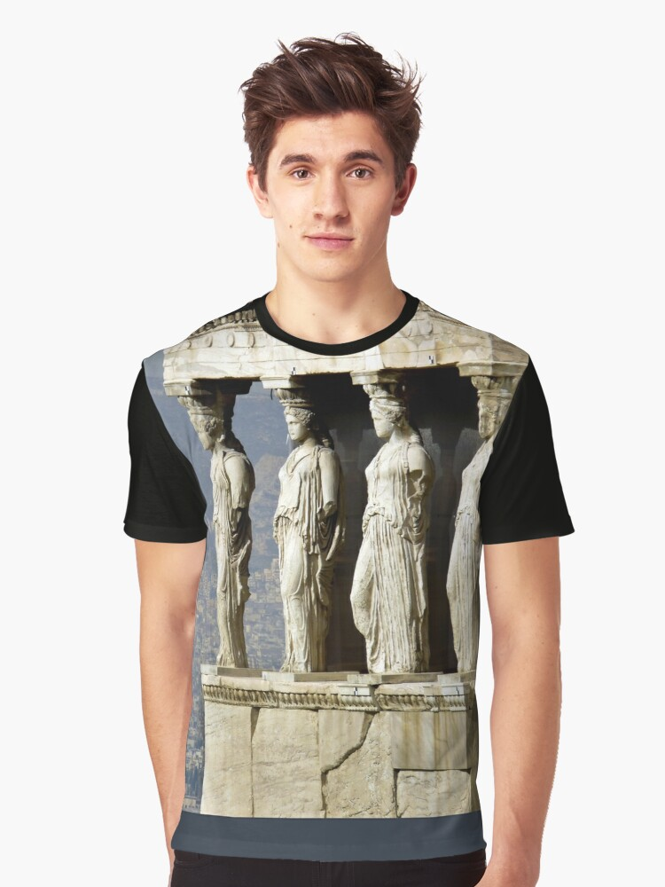 The Porch of the Caryatids of The Erechitheion Graphic T-Shirt Front