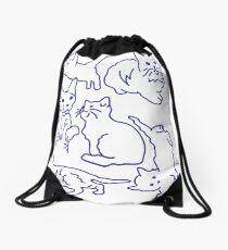 Not Right Meow Drawstring Bag