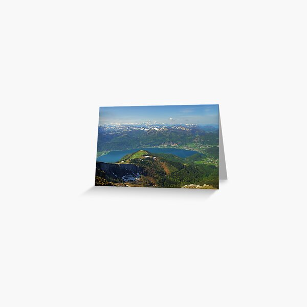 Wolfgangsee from Schafberg Greeting Card