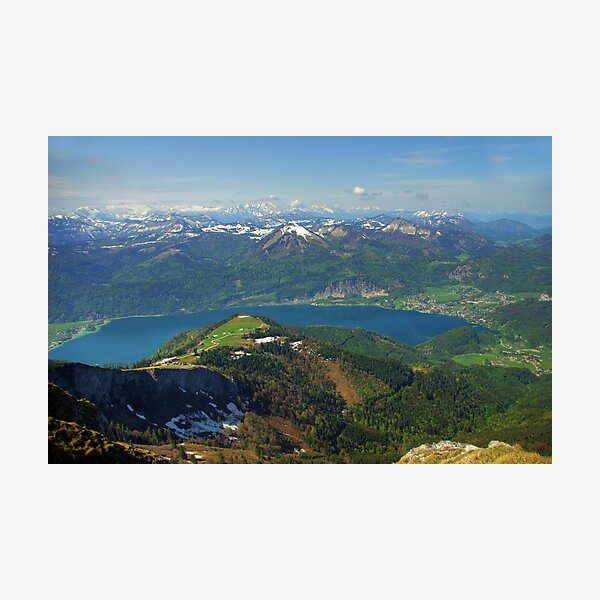 Wolfgangsee from Schafberg Photographic Print