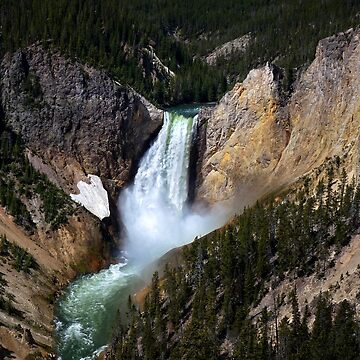 The Grandeur of Lower Yellowstone Falls  by GVAZDesigns