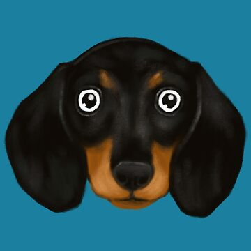 Black Dachshund is joining the dog party by cheesim