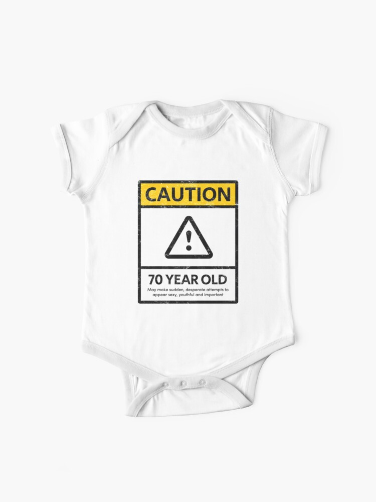 Caution 70 Year Old 70th Humorous Birthday T Shirt 1948 Gift And