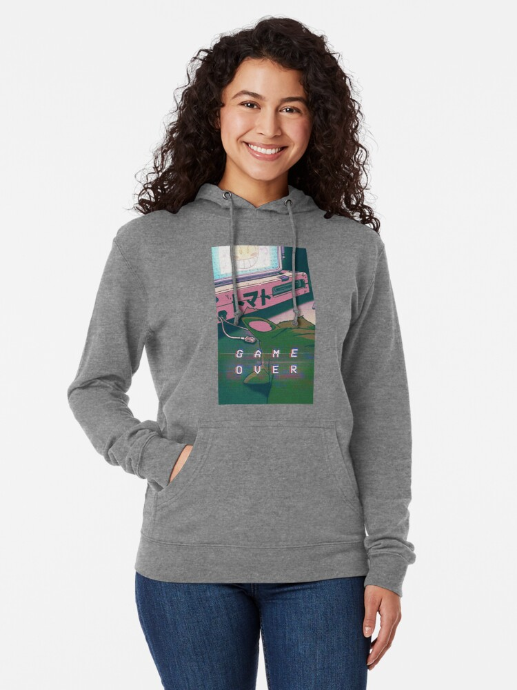 Aesthetic Game Over Lightweight Hoodie By Indigorunner Redbubble