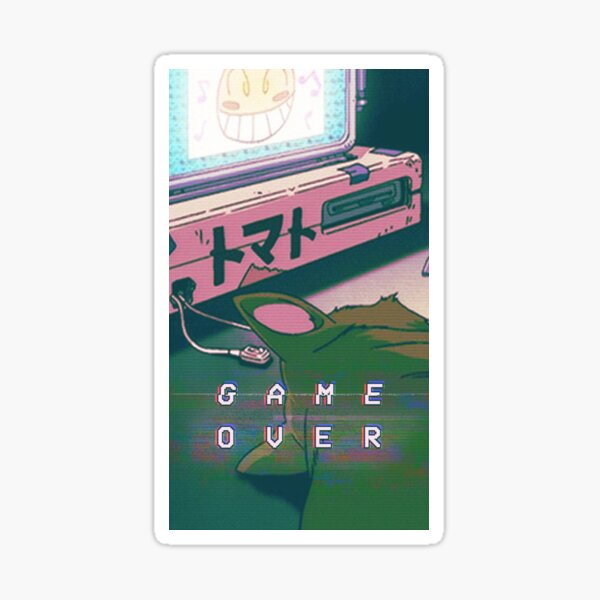 Aesthetic Game Over Sticker
