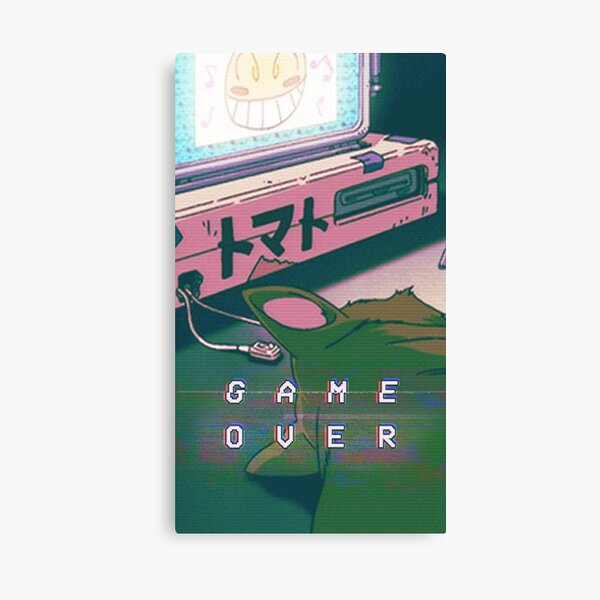 Aesthetic Game Over Canvas Print