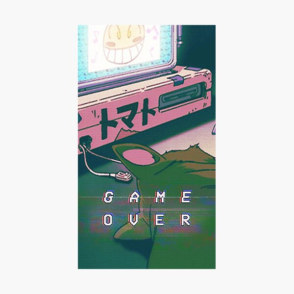 Aesthetic Game Over Photographic Print