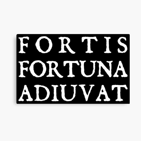 FORTIS FORTUNA ADIUVAT Canvas Print