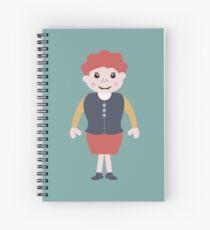 vintage school girl Spiral Notebook