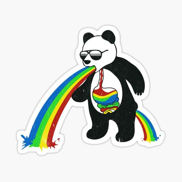 Panda vomir arc-en-ciel Sticker