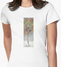 Glowing Imagine Tree Womens Fitted T-Shirt