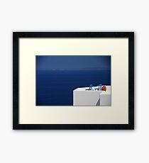 ENDLESS AEGEAN BLUE Framed Print