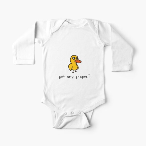 got any grapes? Long Sleeve Baby One-Piece