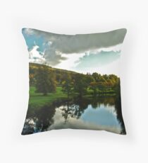 Approaching Chatsworth Throw Pillow