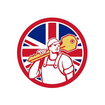 British Locksmith Union Jack Flag Icon by patrimonio